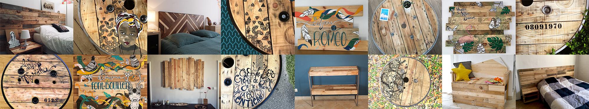 Tables tourets et décorations personnalisés
